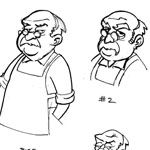 Aaron Warner Character Design Cartoon Example