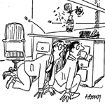 Hugh Brown Gag Cartoon Cartoon Example
