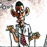 Mike Flinn Caricature Cartoon Example