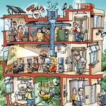 Peter Welleman Contemporary Style Cartoon Example